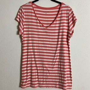 Attention casual striped T-shirt
